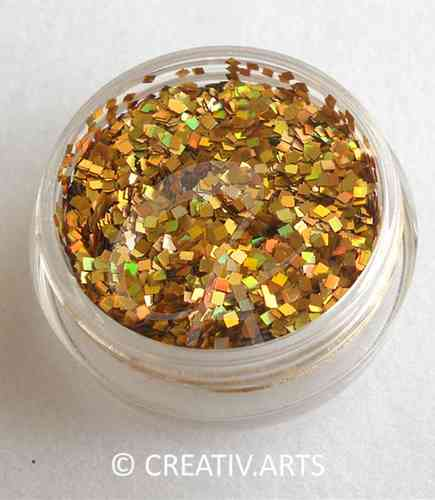 PURE GOLD glitter square