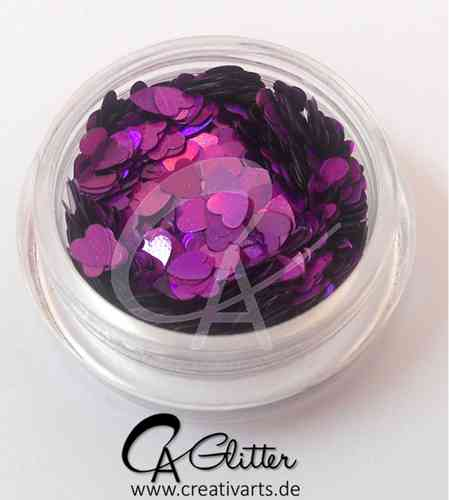 cosmic purple HEARTS