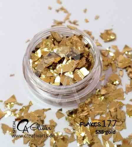 585 gold - flakes