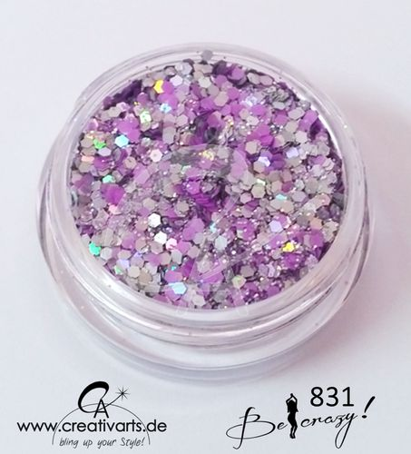 BE CRAZY silber-purple
