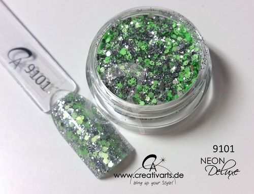 neon.deluxe silver.green