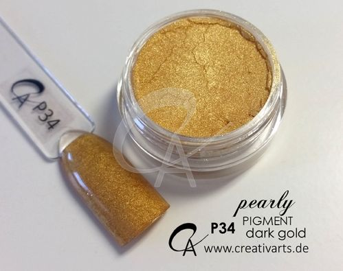 Pigment pearly dark gold