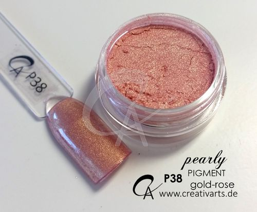 Pigment pearly gold-rose