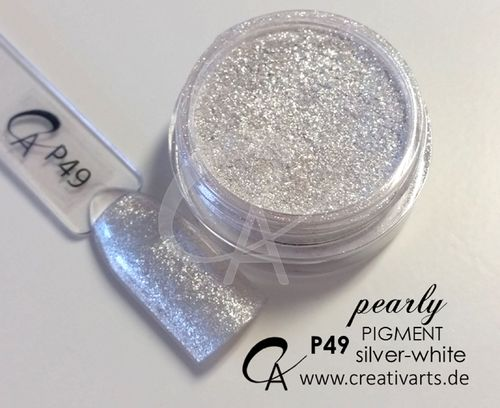 Pigment pearly silver-white