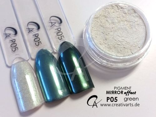 Pigment Mirror effect green ultrafine