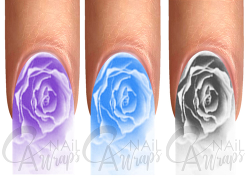 Romantic Roses Purple Blue Grey